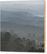 Hilly Country Wood Print