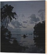 Hilo Harbor Sunset  Wood Print