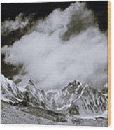 Himalayan Mountain Range Wood Print