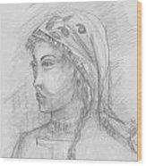Himalayan Woman Wood Print