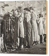 Hine: Child Labor, 1910 Wood Print