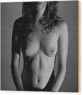 Hippy Nude Wood Print