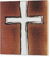 His Cross Wood Print
