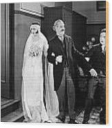 His Marriage Wow, 1925 Wood Print