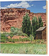 Historic Bicknell Grist Mill - Utah Wood Print