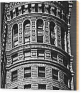 Historic Building In San Francisco - Black And White Wood Print