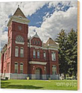 Historic Courthouse Marysvale Utah Wood Print