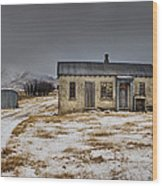 Historic Farm After Snowfall Otago New Wood Print by Colin Monteath