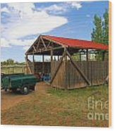 Historic Fruita District Barn Wood Print