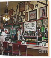 Historic Niles District In California Near Fremont . Bronco Billys Pizza Palace . 7d10707 Wood Print by Wingsdomain Art and Photography