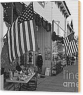 Historic Niles District In California Near Fremont . Main Street . Niles Boulevard . 7d10692 . Bw Wood Print by Wingsdomain Art and Photography