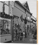 Historic Niles District In California Near Fremont . Main Street . Niles Boulevard . 7d10701 . Bw Wood Print by Wingsdomain Art and Photography