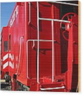 Historic Niles District In California Near Fremont . Western Pacific Caboose Train . 7d10622 Wood Print