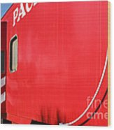 Historic Niles District In California Near Fremont . Western Pacific Caboose Train . 7d10724 Wood Print