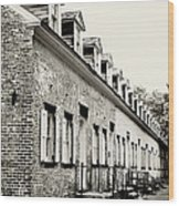 Historic Row Homes Allaire Village Wood Print