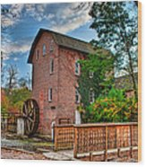 Historic Woods Grist Mill Wood Print