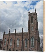 Historical 1st Presbyterian Church - Gates Avenue Se Huntsville Alabama Usa - Circa 1818 Wood Print