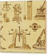 Historical Astronomy Instruments Wood Print