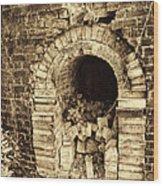 Historical Brick Kiln Oven Opening Decatur Alabama Usa Wood Print