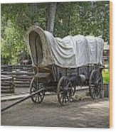 Historical Frontier Covered Wagon Wood Print