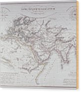 Historical Map Of The Known World Wood Print by Fototeca Storica Nazionale