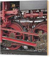 Historical Steam Train Wood Print