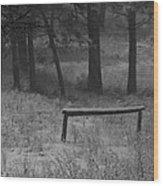 Hitching Post Wood Print
