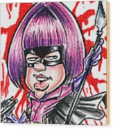 Hitgirl Wood Print by Big Mike Roate