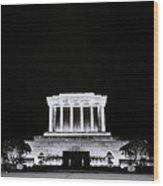 Ho Chi Minh Memorial At Night Wood Print