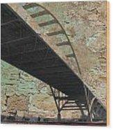 Hoan Bridge And Brick Wood Print