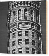 Hobart Building In San Francisco Ll - Black And White Wood Print