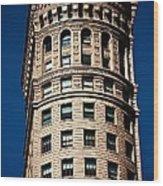 Hobart Building In San Francisco Ll - Colour Wood Print