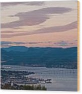 Hobart Harbour During Sunset Wood Print