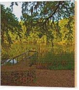 Hobcaw Barony Pond Wood Print