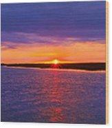 Hobcaw Barony Sunrise Wood Print