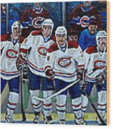 Hockey Art At Bell Center Montreal Wood Print