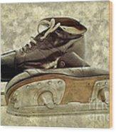 Hockey Boots Wood Print by Dariusz Gudowicz