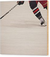 Hockey Stride Wood Print
