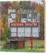 Hocking Theatre Wood Print