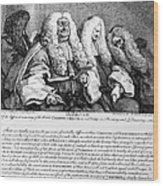 Hogarth: Judges, 1758 Wood Print