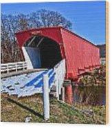 Hogback Covered Bridge Wood Print