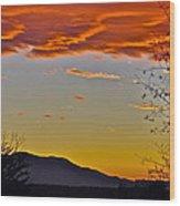 Hogback Mountain Wood Print