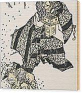 Hokusai: Setsubun, 1816 Wood Print