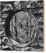 Hole In The Wall Wood Print