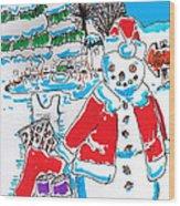 Holiday Dip Wood Print