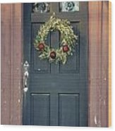 Holiday Door Wood Print