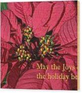 Holiday Greeting Card Wood Print