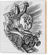 Holiday Train, Conceptual Artwork Wood Print by Bill Sanderson