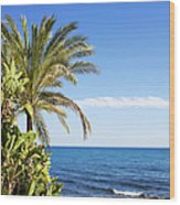 Holidays By The Sea Wood Print