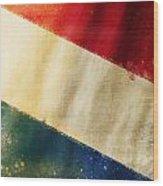 Holland Flag Wood Print